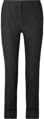 Akris Cropped Mid-rise Straight-leg Jeans - Black