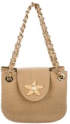 Erick Javits Chain-Link Straw Handle Bag
