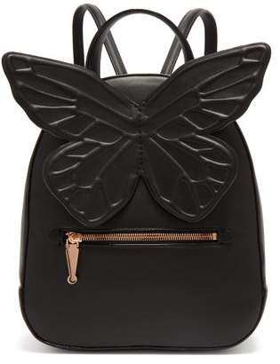 Sophia Webster Kiko Butterfly Applique Leather Backpack - Womens - Black
