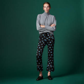 Sandro Wide-leg printed trousers
