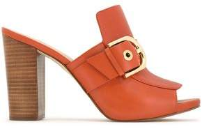 MICHAEL Michael Kors Buckled Leather Mules
