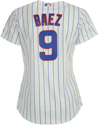 Majestic Women Javier Baez Chicago Cubs Cool Base Player Replica Jersey