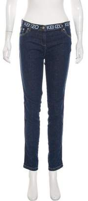 Kenzo Mid-Rise Skinny Jeans w/ Tags