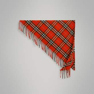 Burberry The Mini Bandana in Check Cashmere , Size: OS