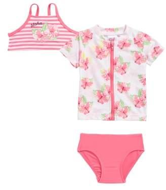 Sol Swim Honolulu Two-Piece Swimsuit with Rashguard
