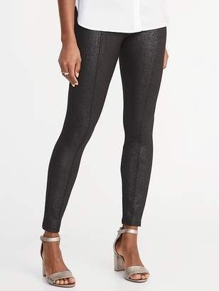 Old Navy High-Rise Stevie Ponte-Knit Shimmer Pants for Women