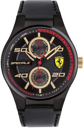 Ferrari Men's Speciale Multi Black Leather Strap Watch 44mm 0830418