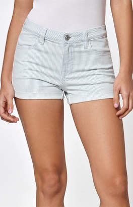 PacSun Micro Stripe Denim Festival Shorts