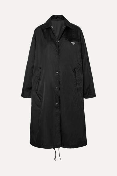 Prada - Shell Hooded Coat - Black