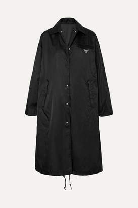 Prada Shell Hooded Coat - Black