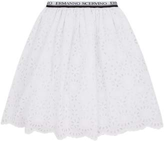 Ermanno Scervino Lace Logo Skirt