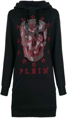 Philipp Plein hooded skull dress