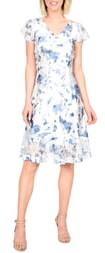 Komarov Painted Azalea A-Line Dress