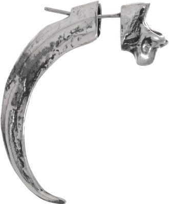 Pamela Love Silver Single Eagle Claw Earring