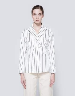 Frankie Striped Cotton Shrunken Jacket