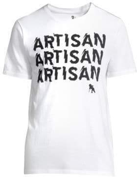 PRPS Men's Artisan Logo Tee - White - Size Large
