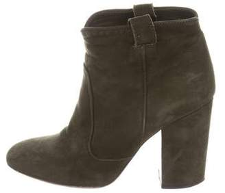 Laurence Dacade Suede Round-Toe Ankle Boots