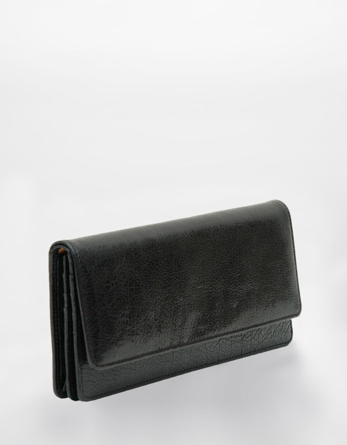TUSK Donnington Leather Flap Clutch