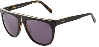 Balmain Flat-Top Two-Tone Acetate Aviator-Style Sunglasses