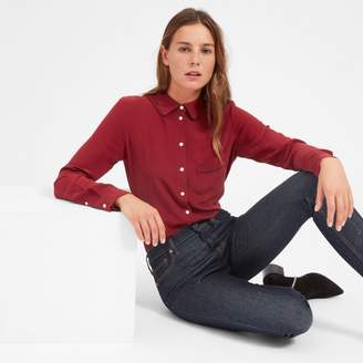 Everlane The Piped Silk Pocket Shirt