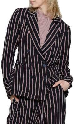 Striped Long-Sleeve Blazer