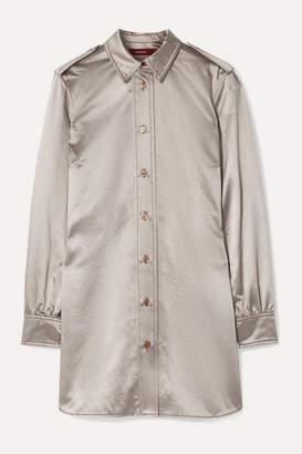 Sies Marjan Kelsi Metallic Cotton-blend Satin Shirt - Silver