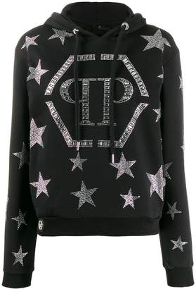 Philipp Plein crystal star hoodie