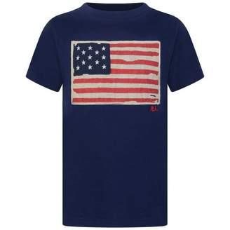 Ralph Lauren Ralph LaurenBoys Navy Cotton Flag Top