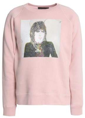 Alexa Chung Woman Printed Cotton Sweatshirt Ivory Size M AlexaChung Free Shipping Collections Reliable Cheap Price Discount Many Kinds Of 2018 For Sale Footaction Cheap Price tdsICh