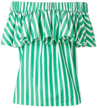 Maison Rabih Kayrouz striped off-shoulder blouse