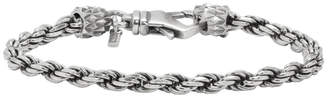 Emanuele Bicocchi Silver Small French Rope Bracelet