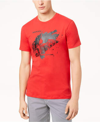 Armani Exchange Men's Paint Blot Logo T-Shirt