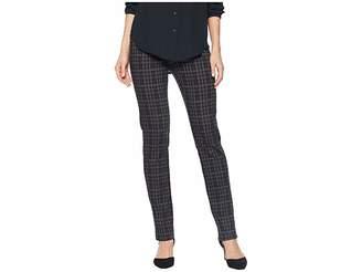 Lisette L Montreal Dogtooth Pattern Jacquard Slim Pants