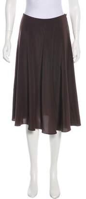 Michael Kors Silk Knee-Length Skirt