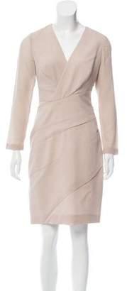 J. Mendel Virgin Wool Long Sleeve Dress