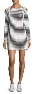 A.L.C. Chapman Striped Lace-Up Cotton Dress