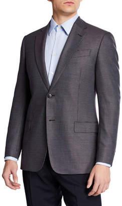 Emporio Armani Men's Multi-Box Neat Bamboo Sport Coat