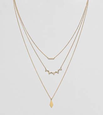 Accessorize geo layered pendant necklace