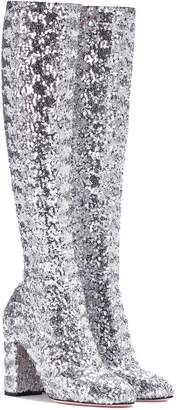 Dolce & Gabbana Glitter knee-high boots