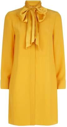 Tory Burch Sophia Pussybow Silk Mini Dress