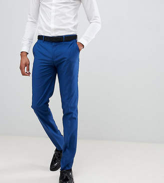 Farah skinny fit suit pants in blue