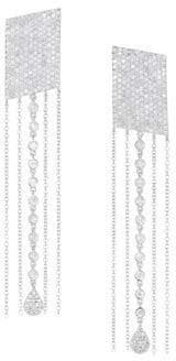 Meira T 14K White Gold& Diamond Fringe Drop Earrings