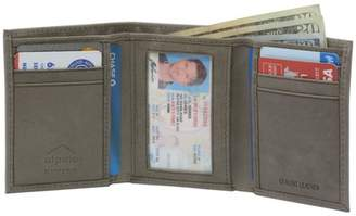 Alpine Swiss Mens Trifold Wallet Genuine Leather Card Case ID Window Billfold