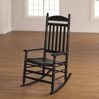 August Grove Benton Round Post Slat Back Rocking Chair August Grove