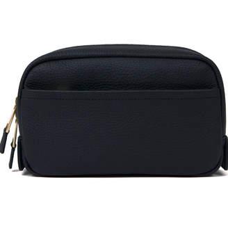 Volition Jules - Leather Wash Bag Navy