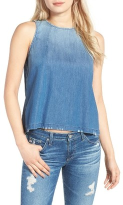Women's Ag The Brie Chambray Shell $138 thestylecure.com