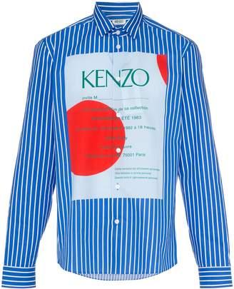 Kenzo striped logo print shirt