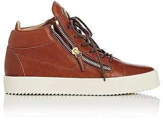 Giuseppe Zanotti Men's Leather Double-Zip Mid-Top Sneakers