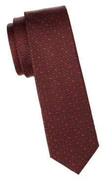 Valentino Lips Slim Silk Tie