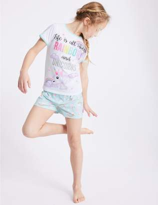 Marks and Spencer Emoji Printed Short Pyjamas (7-16 Years)